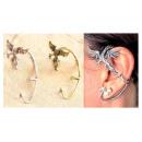 groothandel Sieraden & horloges: K021 oorbellen  Dragon Dragon linkeroor 2 Kleuren