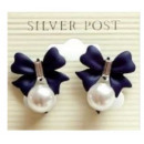 K104 Bests earrings with black bow RETRO