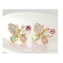 ingrosso Gioielli & Orologi: strass orecchini  farfalla in cristallo K110 COLOR