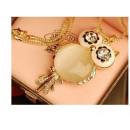 Großhandel Schmuck & Uhren: N039 Halskette OWL PEARL Perle Vintage