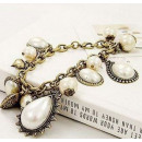 wholesale Jewelry & Watches: B043 Bracelet  PEARLS pendants Vintage style