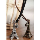 N065 necklace pendant TOWER with crown Vintage