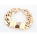 groothandel Sieraden & horloges: B041 armband met  gouden badge keten van RIHANNA