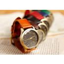 groothandel Sieraden & horloges: HIT horloge retro lederen 6 kleuren