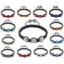 groothandel Armbanden: B040 Shamballa  Armband 3 BALL Swarovski