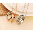 N097 necklace pendant crystal retro RINGS