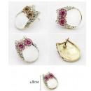 Großhandel Schmuck & Uhren: K050 Ohrringe kleine Eule Eule Eule Kristalle