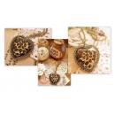 Großhandel Schmuck & Uhren: N059 Anhänger -  Halskette Leopard - Herz - Vintage