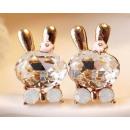 groothandel Oorbellen: K026 Oorbellen  Bunny Rabbit kristallen Swarovski