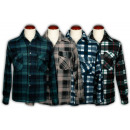 wholesale Shirts & Blouses: Men's shirts flannel Ref. 131