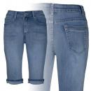 Großhandel Jeanswear: Capri Damenjeans Ref. 6793. Weibliche Mode