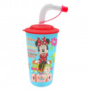 Straw Glass 3D Minnie