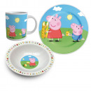 Set Breakfast Ceramic 3 Rooms Peppa Pig