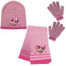 Beanie + Scarf + Gloves Minnie - (Pink & Fusch