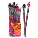 Pencils Paper + Topper 3D TROLLS - (Tubo 24