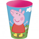 Glass Plastic 430ml Peppa Pig