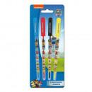 grossiste Stylos et crayons: Blister 4 Stylos à  Gel + Paillettes PAT PATROUILLE