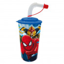 Glass Straw Spiderman