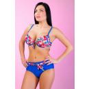 Bikini fleurs bleues