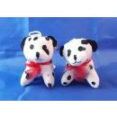 Peluche - Chien, dalmatien avec une boucle de 10 c