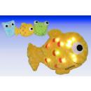 Plush LED pillow ANIMALS, owl frog, fish