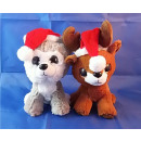 Plush Christmas range with hat and scarf