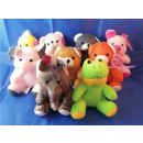 Colorful plush - animals, 16 cm