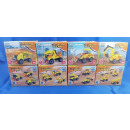 Blocks - Construction vehicles, 3in1, 4-fold