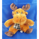 assis peluche douce - MOOSE avec kerchief