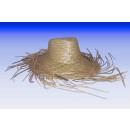 Panama straw hat - with fringe, cowboy hat