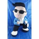 rappeur peluche style Gangnam 55 cm avec son Chip