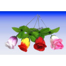 Rosebud 26 cm, 4- assorted, art roses