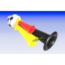 Football sifflet noir-rouge-or Fan EM WM