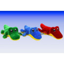 colorful plush crocodiles, 17 cm