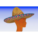 SOMBRERO - 42 cm straw hat party hat Mexico