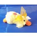peluche couché - canard avec son
