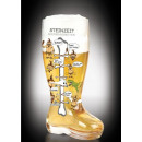 great beer boots 1.4 liters with funny Print