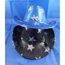Glitter cowboy hat with stars in 4 colors