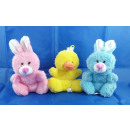 Plush - animals, rabbit and duck, 3-fold