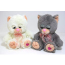 Plush Cat with Heart Paw, 22 cm