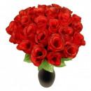 RED Heckenrose Kunstblume Rosebud