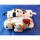 Plush Federmappe COW Schlamperrolle, 17 cm