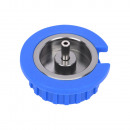Gas cartridge adapter screw to bayonet valve