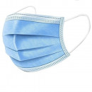 Mouth and nose mask / hygiene mask 3-ply blue