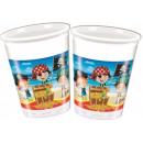 groothandel Stationery & Gifts: Piraat, piraat  10-delige plastic beker van 200 ml