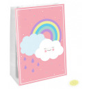 Rainbow and Cloud paper bag with 4 pieces