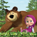 Masha and the Bear pillowcase 40 * 40 cm