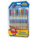 Gel Pen Set 12 piezas Super Wings