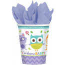 Welcome Baby Party Paper Glass 8 pcs 266 ml