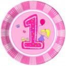 mayorista Regalos y papeleria: platos de papel  primer cumpleaños de 8 piezas de 2